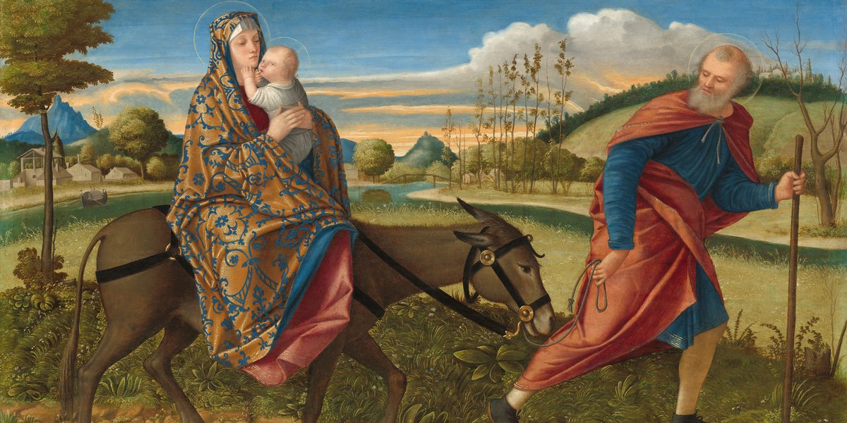 Detail from Vittore Carpaccio, The Flight to Egypt, c.1515