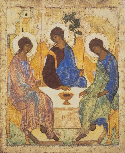 The Hospitality of Abraham (Icon of The Holy Trinity; The Old Testament Trinity) by Andrei Rublev