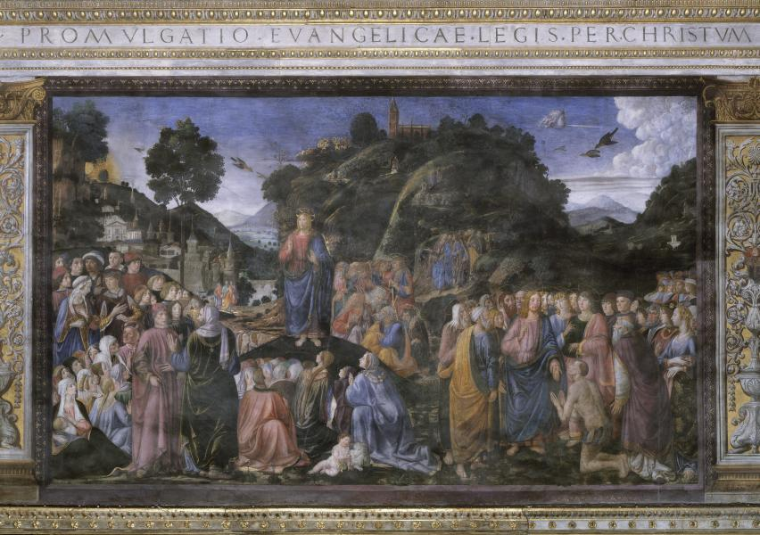The Sermon on the Mount and the Healing of the Lepers by Cosimo Rosselli