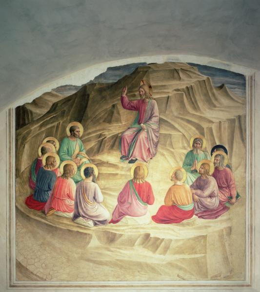The Sermon on the Mount, Cell 32 by Fra Angelico