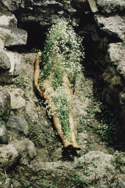 Imagen de Yagul, from the series Silueta Works in Mexico 1973–1977, by Ana Mendieta