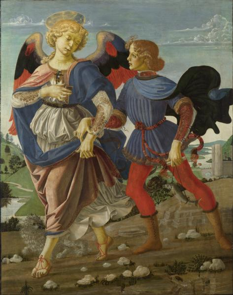 Tobias and the Angel by Andrea del Verrocchio and workshop