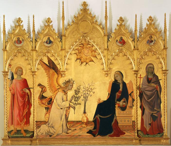 The Annunciation by Simone Martini and Lippo Memmi