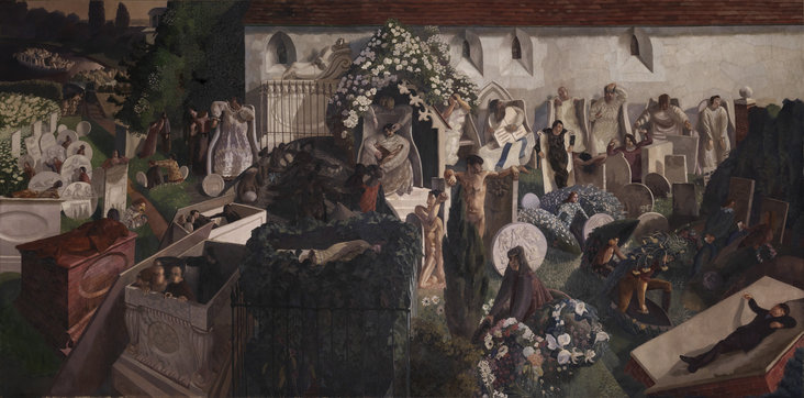 The Resurrection, Cookham by Stanley Spencer