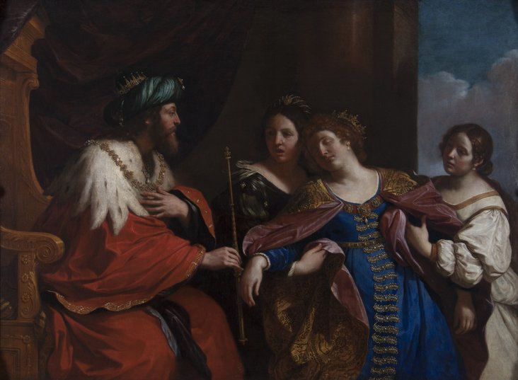 Esther before Ahasuerus by Guercino