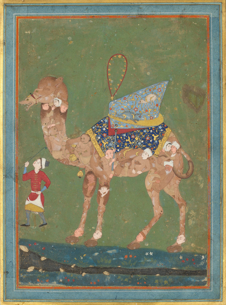 Composite Camel with Attendant by Unknown Iranian Artist