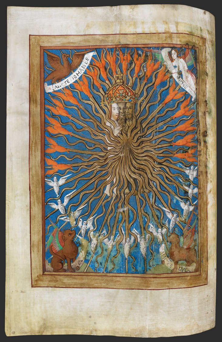 The Trinity, from a Book of Hours by an unknown English artist