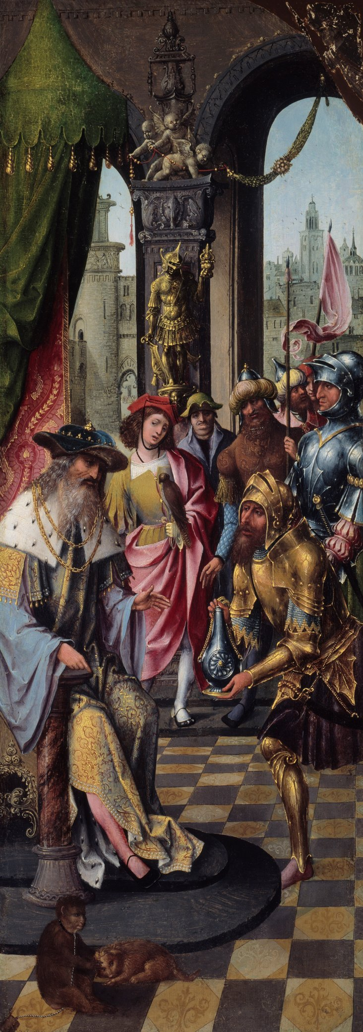 King David Receiving the Cistern Water of Bethlehem by Master of the Antwerp Adoration Group