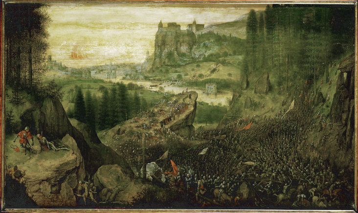 The Suicide of Saul in the Battle of Mount Gilboa against the Philistines by Pieter Bruegel I