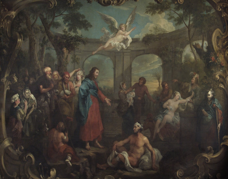 Christ at the Pool of Bethesda by William Hogarth