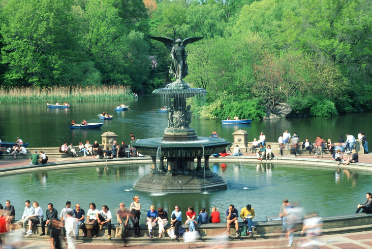 Bethesda Fountain, Central Park, New York by Emma Stebbins