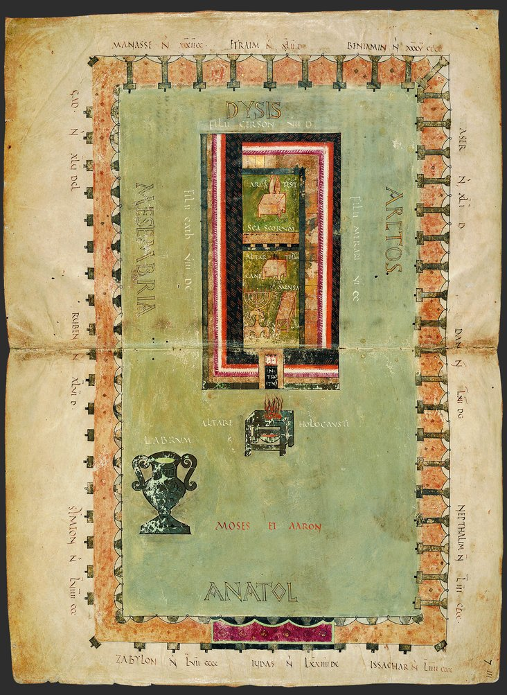 The Tabernacle of Moses from the Codex Amiatinus by Unknown English artist