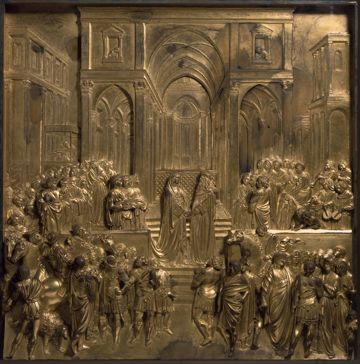 Solomon and the Queen of Sheba, from Gates of Paradise by Lorenzo Ghiberti