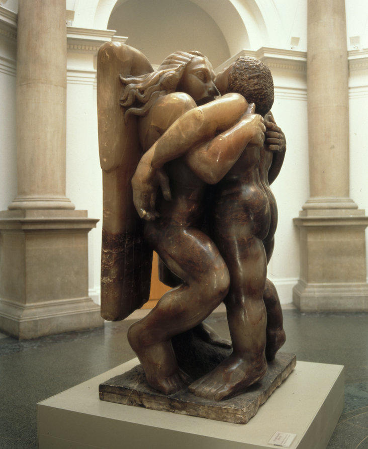 Jacob and the Angel by Jacob Epstein