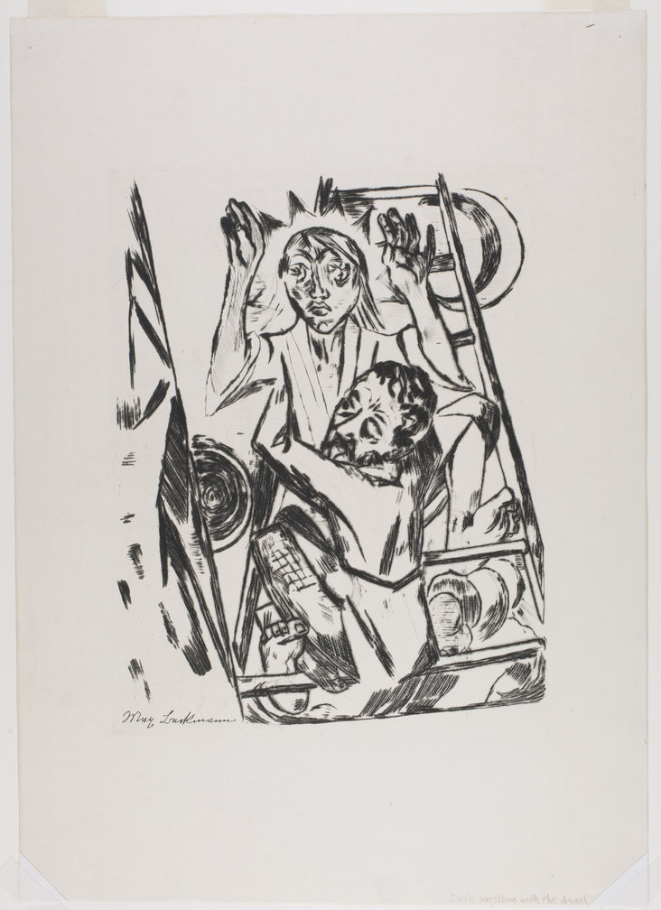 Jakob Ringt mit den Engel (Jacob Wrestles with the Angel) by Max Beckmann