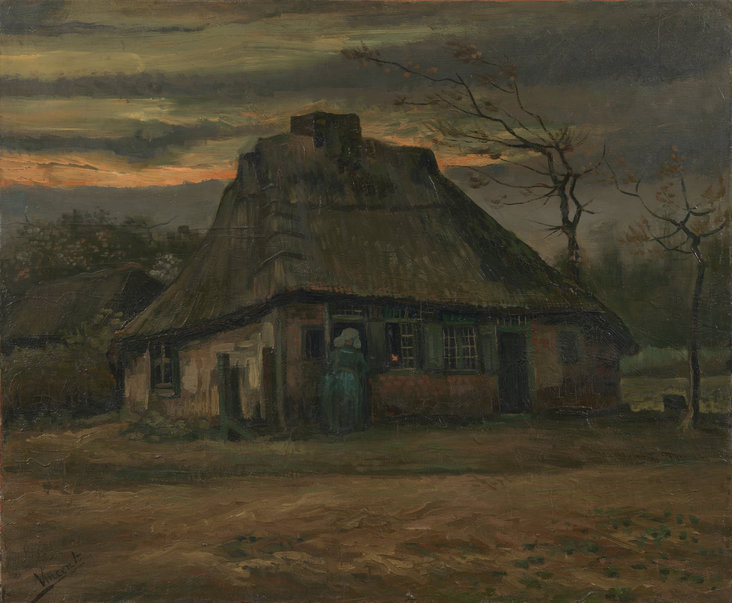 The Cottage by Vincent van Gogh