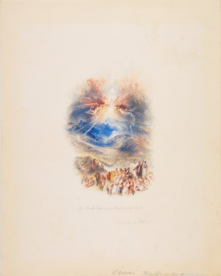 One of Twenty Vignettes, Sinai's Thunder (Illustration to 'The Pleasures of Hope') by Joseph Mallord William Turner