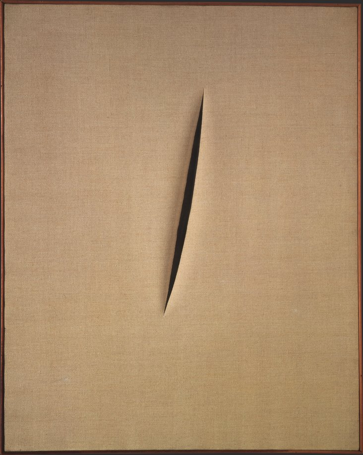 Spatial Concept 'Waiting' by Lucio Fontana