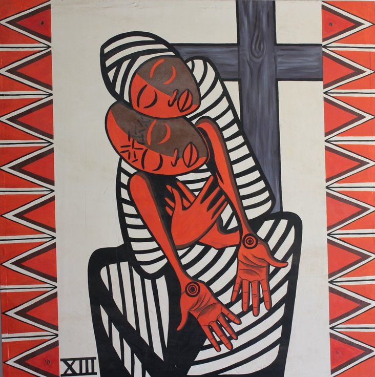 Jesus is taken down from the Cross (Station of the Cross no. 13) by Engelbert Mveng