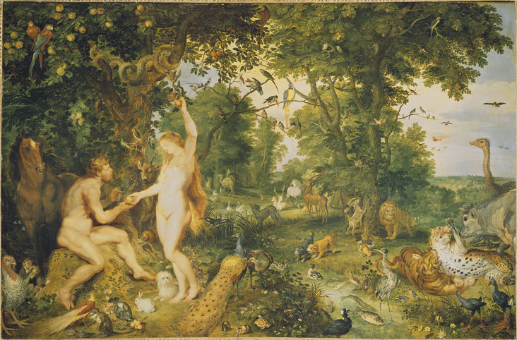 The Garden of Eden with the Fall of Man by Jan Brueghel the Elder and Peter Paul Rubens