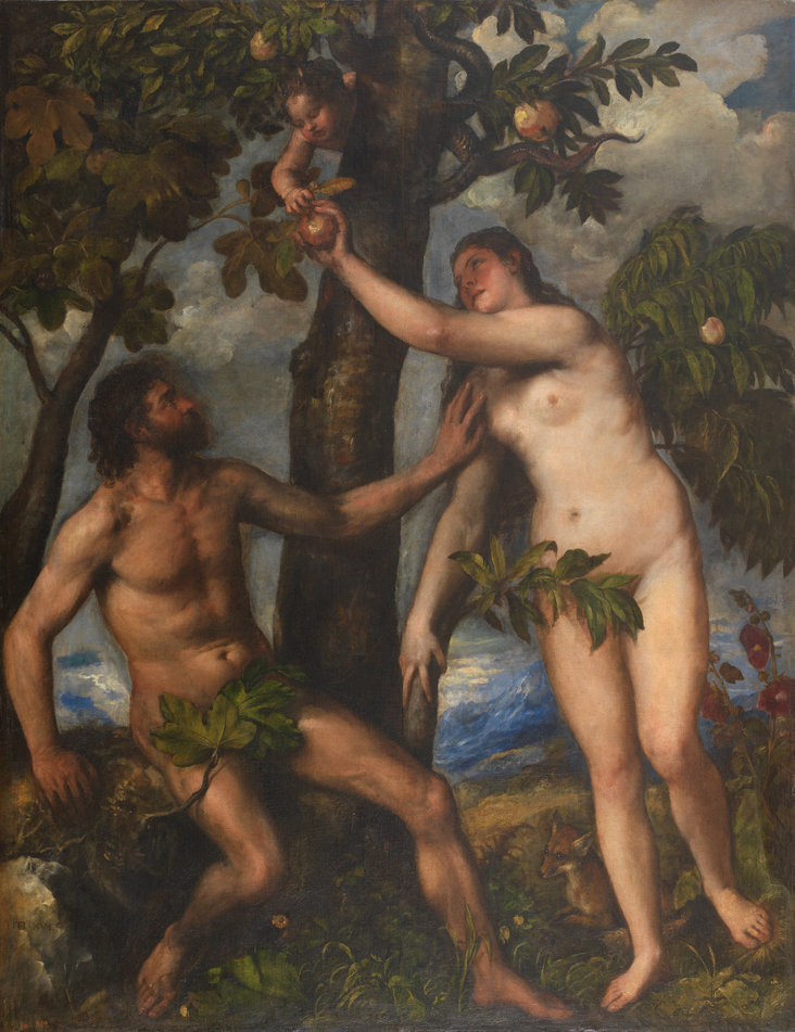 Adam and Eve by Titian