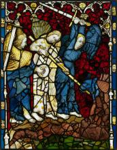 The War in Heaven (pane 7g), part of The Great East Window of York Minster