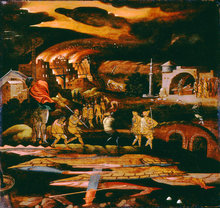 Old Testament Scene, possibly The Last Days of the World according to the Prophet Joel by Unknown Flemish artist