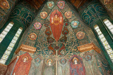 The Tree of Life, interior of the Watts Cemetery Chapel by Mary S. Watts