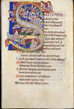 Psalm 136 (Psalm 137) from St Albans Psalter by Unknown English artist