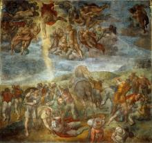 The Conversion of Saul by Michelangelo Buonarroti