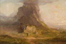 Study for Two Youths Enter Upon a Pilgrimage by Thomas Cole