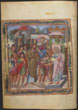 The Anointing of David, from the Paris Psalter by Unknown Byzantine artist