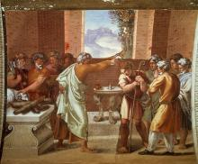 David is Anointed by Samuel by Raphael