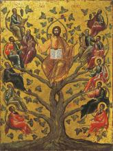 Christ the True Vine icon by Unknown Greek school
