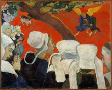 Vision of the Sermon (Jacob Wrestling with the Angel) by Paul Gauguin