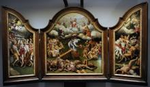 Triptych with the Triumph of Death and the Last Judgement by Hermann tom Ring
