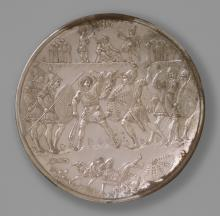 Plate with the Battle of David and Goliath by Unknown artist, Constantinople