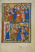 David Bringing the Ark of the Covenant to Jerusalem, from Illustrated Vita Christi by Unknown English artist