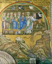 The Rainbow and Noah Freeing the Animals from the Ark, from the south barrel vault, west narthex by Unknown artist