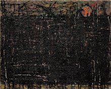 Black City on Gold River by William Congdon