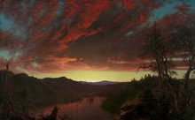 Twilight in the Wilderness by Frederic Edwin Church