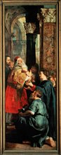 The Presentation of Jesus in the Temple; Right wing of triptych altarpiece of the Deposition by Peter Paul Rubens