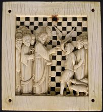 Healing of the Possessed Man of Gerasa, from Magdeburg Ivory panels by Unknown artist [Milanese?]