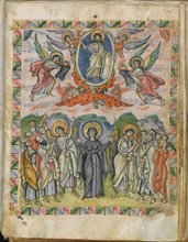Ascension, from the Rabbula (Rabula) Gospels by Unknown artist, Syria